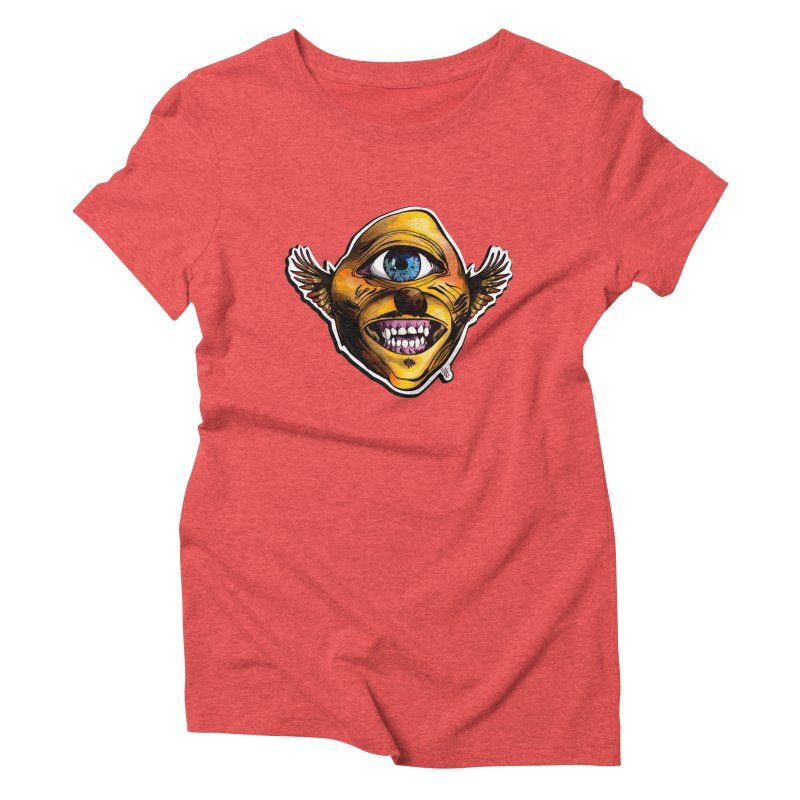 Cycloptic Dog Eagle with a Stache Women's Triblend T-Shirt by Red Rust Rum - Shop