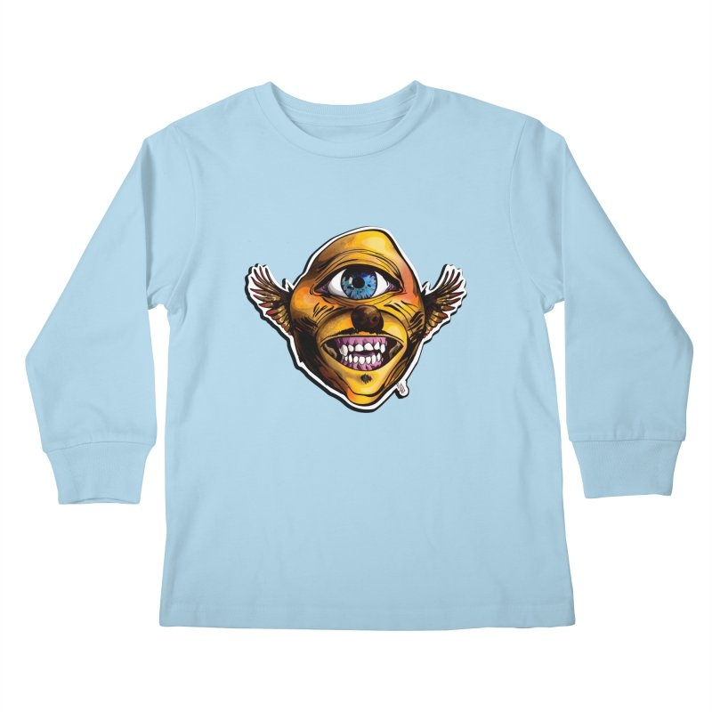 Cycloptic Dog Eagle with a Stache Kids Longsleeve T-Shirt by Red Rust Rum - Shop