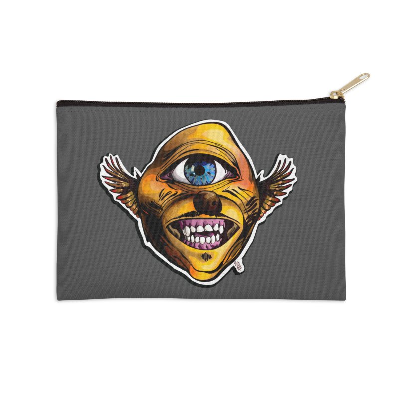 Cycloptic Dog Eagle with a Stache Accessories Zip Pouch by Red Rust Rum - Shop