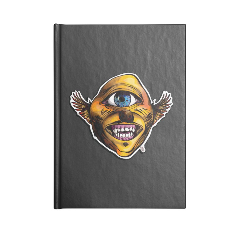 Cycloptic Dog Eagle with a Stache Accessories Lined Journal Notebook by Red Rust Rum - Shop