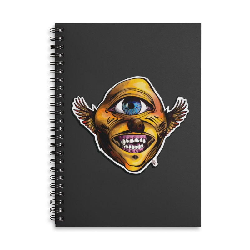 Cycloptic Dog Eagle with a Stache Accessories Lined Spiral Notebook by Red Rust Rum - Shop