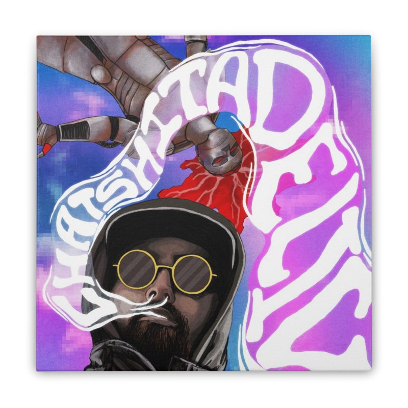 Chatshitadelic Cover Art Home Stretched Canvas by Red Rust Rum - Shop