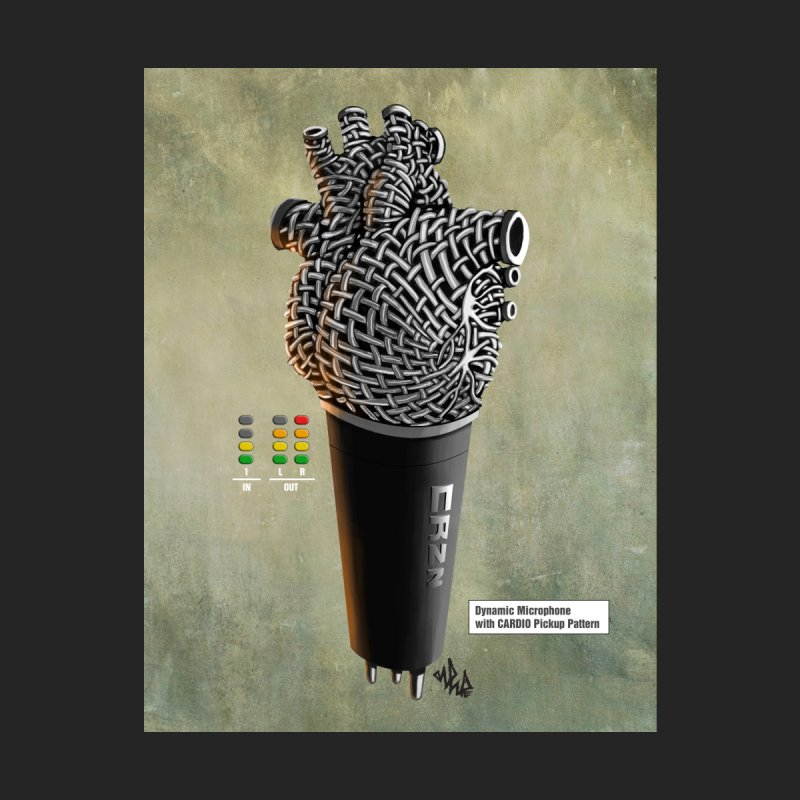 CRZN Dynamic Microphone PRINT Accessories Phone Case by Red Rust Rum - Shop