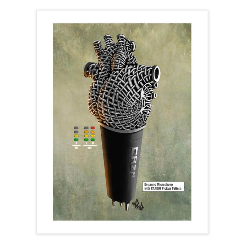 CRZN Dynamic Microphone PRINT Home Bath Mat by Red Rust Rum - Shop