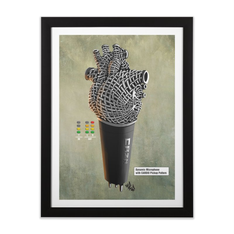CRZN Dynamic Microphone PRINT Home Framed Fine Art Print by Red Rust Rum - Shop