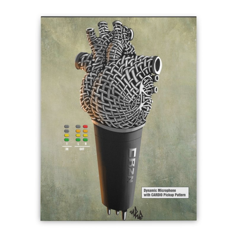 CRZN Dynamic Microphone PRINT Home Stretched Canvas by Red Rust Rum - Shop