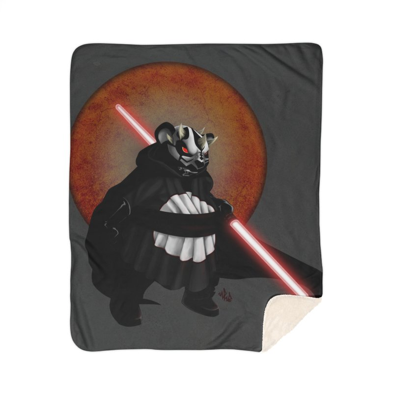 The Panda Menace Home Sherpa Blanket Blanket by Red Rust Rum - Shop