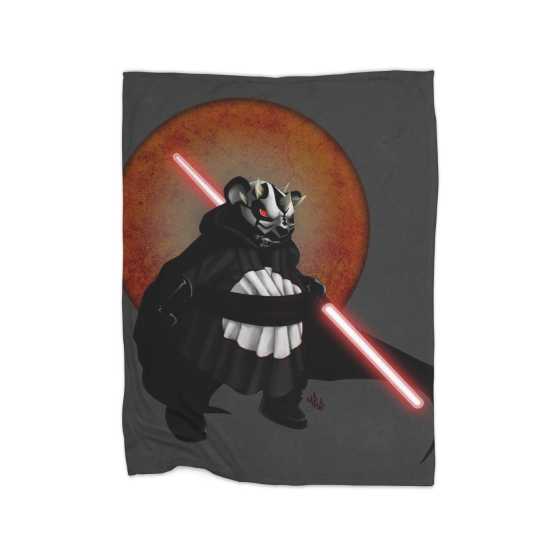 The Panda Menace Home Fleece Blanket Blanket by Red Rust Rum - Shop