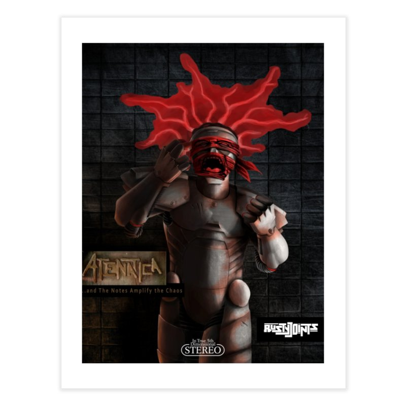 ATeNATiCa Album Art Home Fine Art Print by Red Rust Rum - Shop