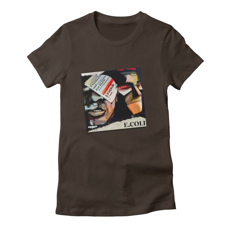 Tasteless and Faceless (Cover Art) Women's Fitted T-Shirt by Red Rust Rum - Shop
