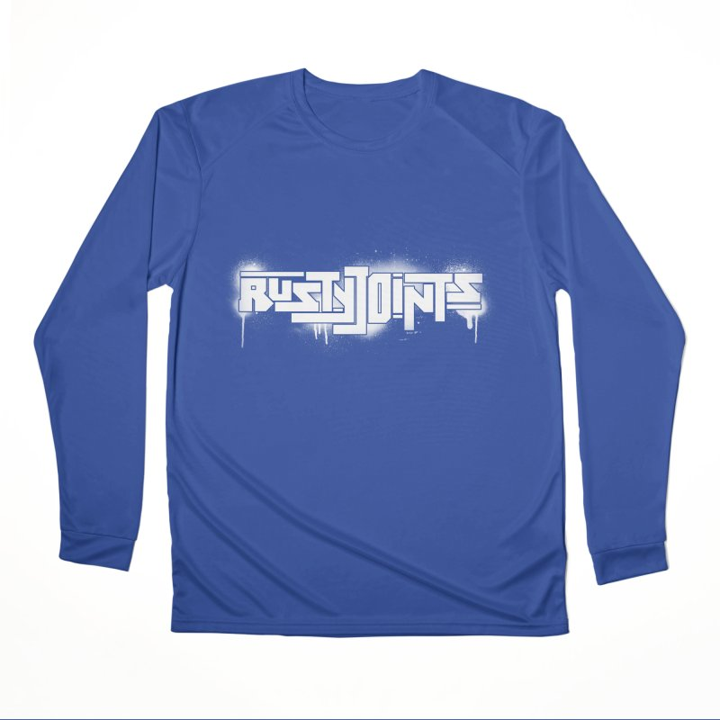 Rusty Joints Logo (Stencil Spray) Men's Performance Longsleeve T-Shirt by Red Rust Rum - Shop