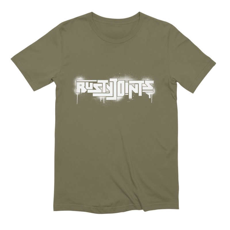 Rusty Joints Logo (Stencil Spray) Men's Extra Soft T-Shirt by Red Rust Rum - Shop
