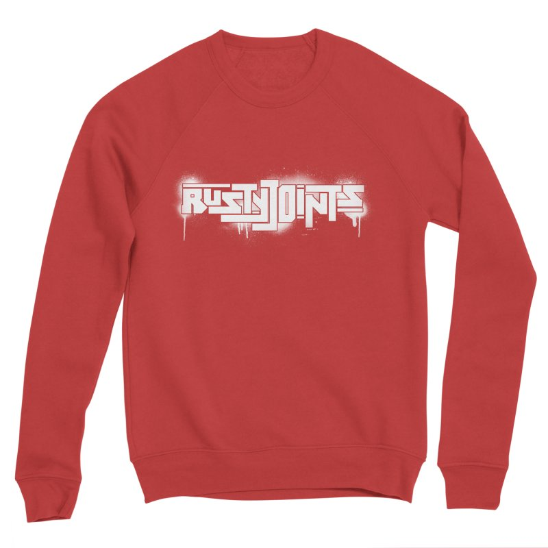 Rusty Joints Logo (Stencil Spray) Men's Sponge Fleece Sweatshirt by Red Rust Rum - Shop