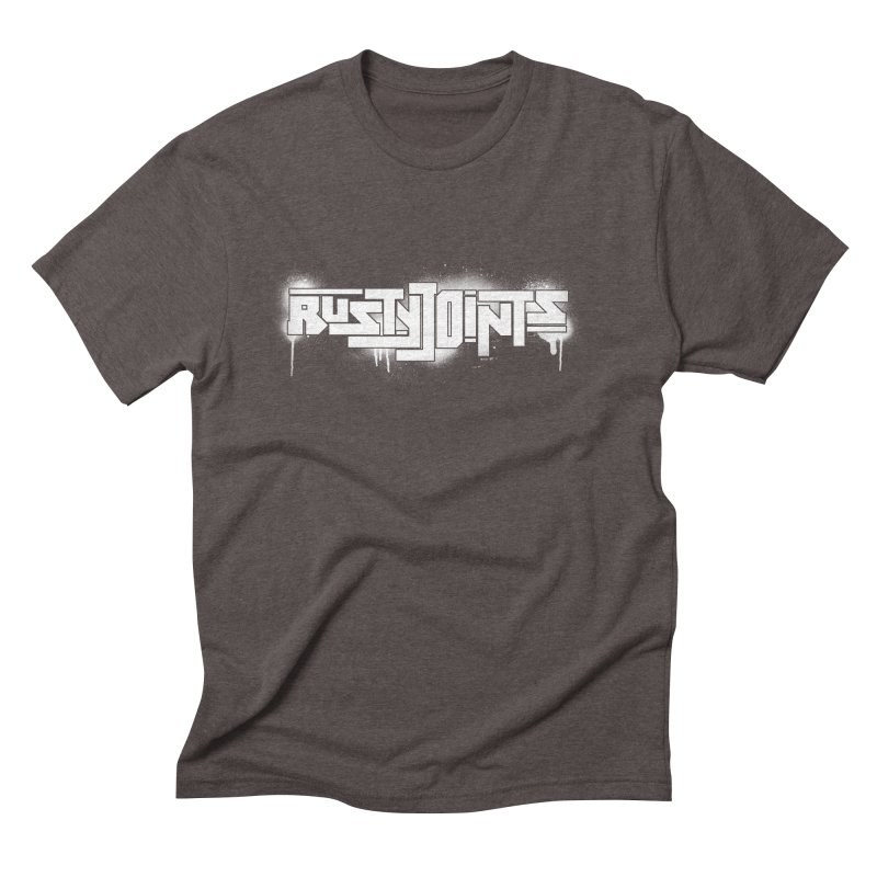 Rusty Joints Logo (Stencil Spray) Men's Triblend T-Shirt by Red Rust Rum - Shop