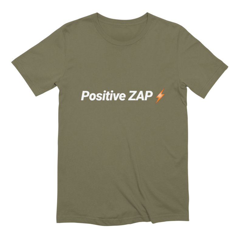 Positive ZAP!!! Men's Extra Soft T-Shirt by Red Rust Rum - Shop