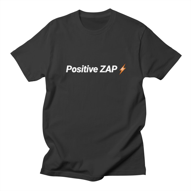 Positive ZAP!!! in Men's Regular T-Shirt Smoke by Red Rust Rum - Shop