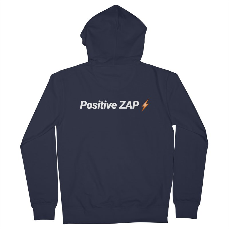 Positive ZAP!!! Men's French Terry Zip-Up Hoody by Red Rust Rum - Shop