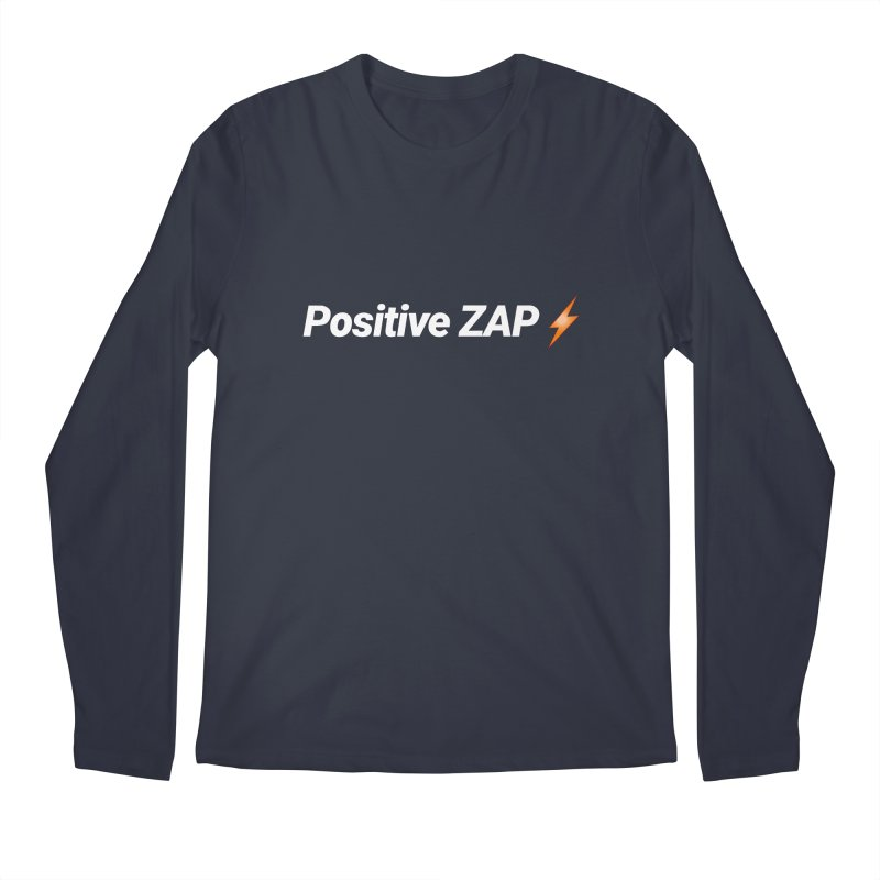 Positive ZAP!!! Men's Regular Longsleeve T-Shirt by Red Rust Rum - Shop