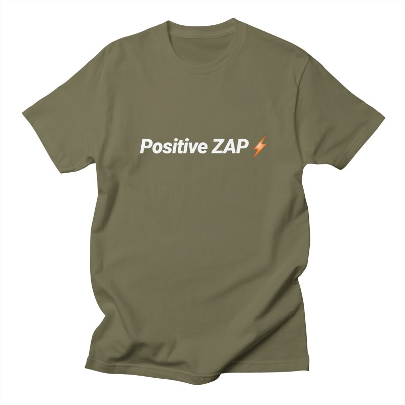 Positive ZAP!!! Men's Regular T-Shirt by Red Rust Rum - Shop
