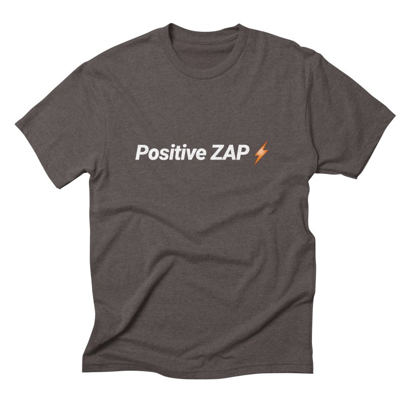 Positive ZAP!!! in Men's Triblend T-Shirt Tri-Coffee by Red Rust Rum - Shop