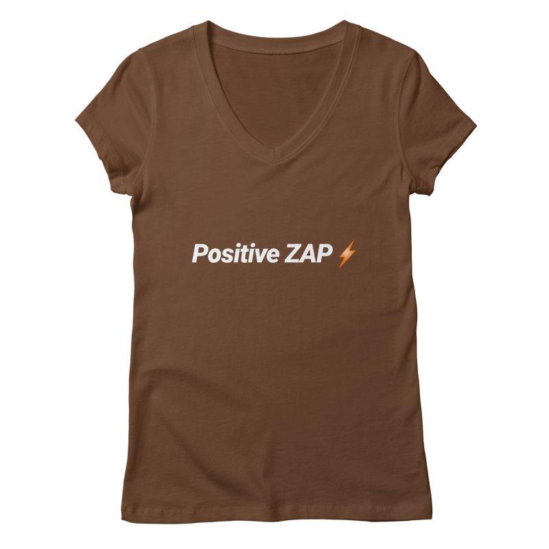 Positive ZAP!!! Women's Regular V-Neck by Red Rust Rum - Shop