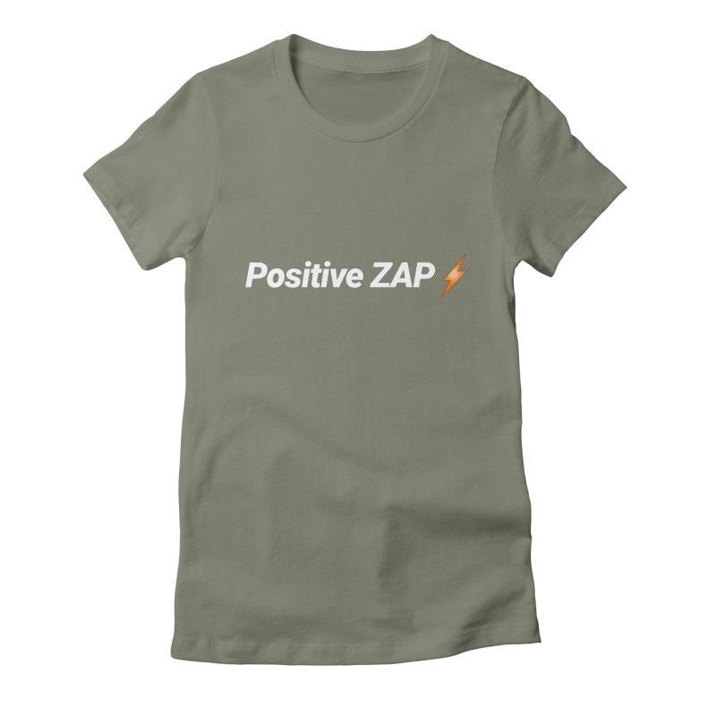 Positive ZAP!!! Women's Fitted T-Shirt by Red Rust Rum - Shop