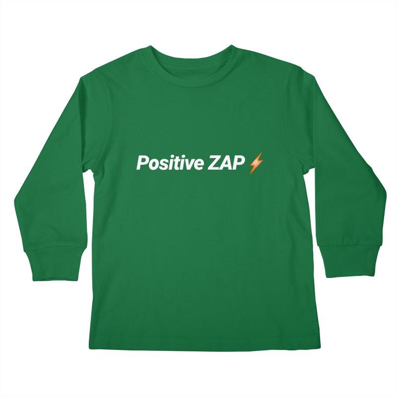 Positive ZAP!!! Kids Longsleeve T-Shirt by Red Rust Rum - Shop
