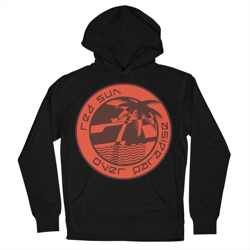 Futuristic Sunset Men's French Terry Pullover Hoody by redsun.tf merchandise shop