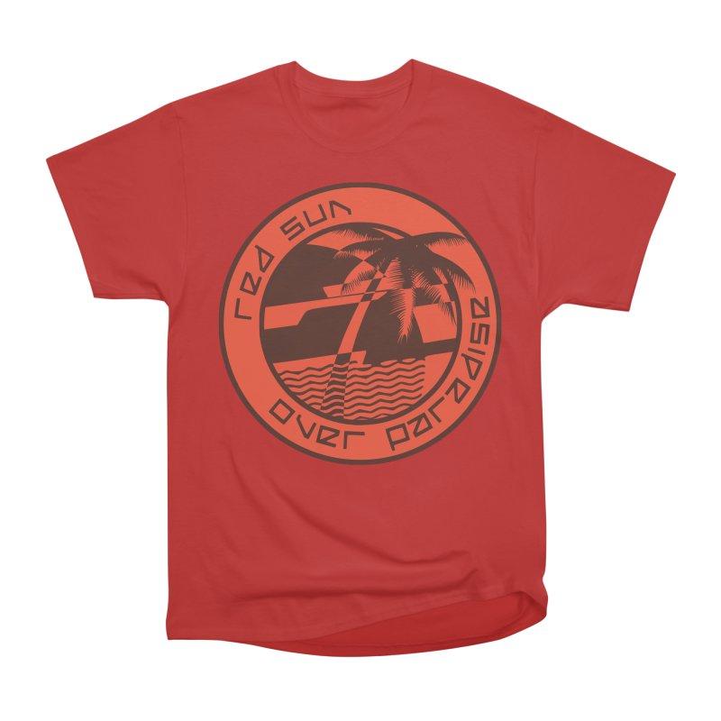 Futuristic Sunset Men's Heavyweight T-Shirt by redsun.tf merchandise shop