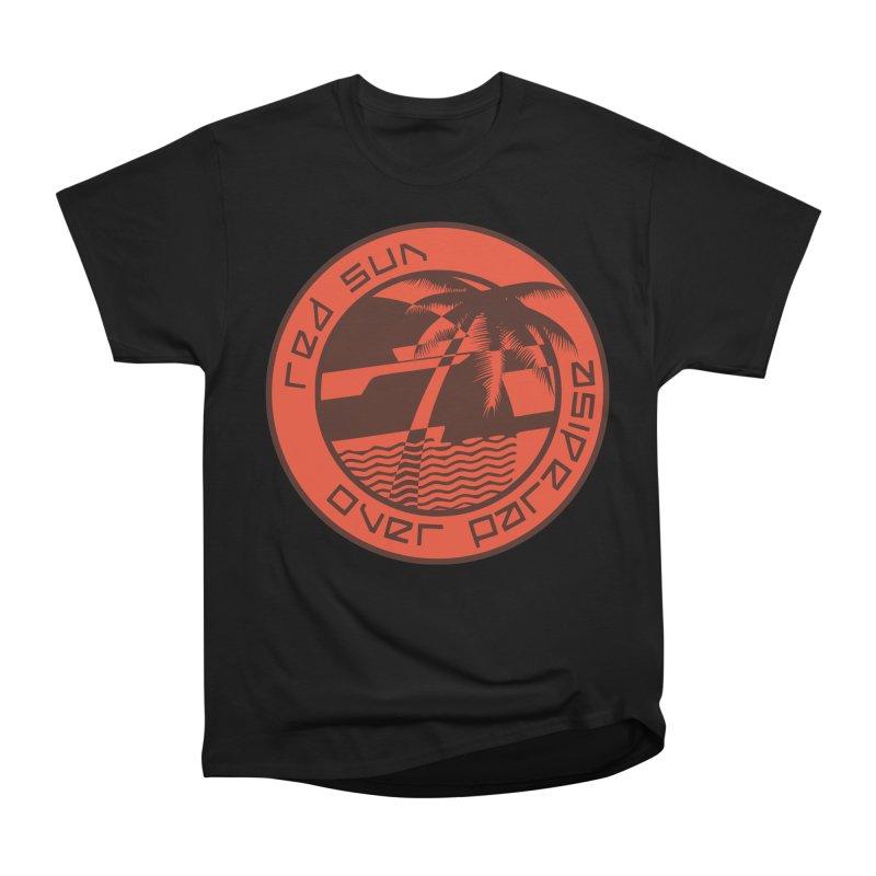 Futuristic Sunset Women's Heavyweight Unisex T-Shirt by redsun.tf merchandise shop