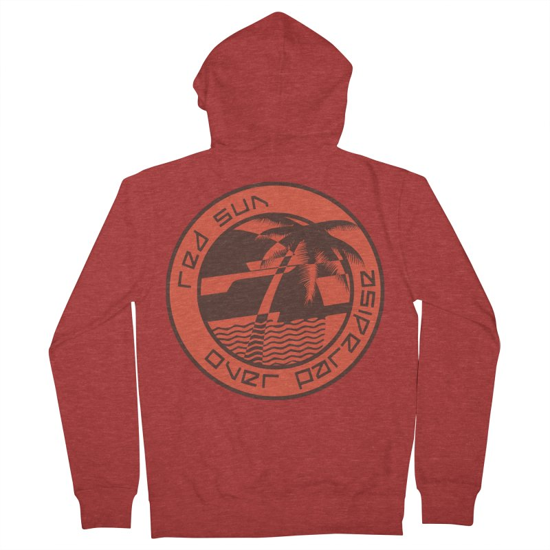 Futuristic Sunset Men's French Terry Zip-Up Hoody by redsun.tf merchandise shop