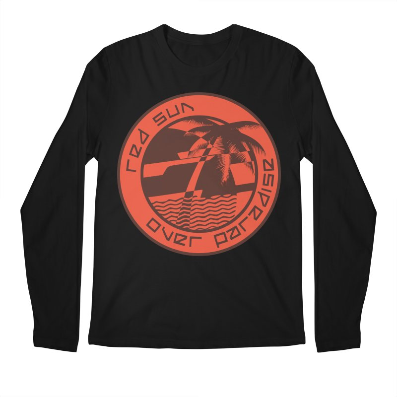 Futuristic Sunset Men's Regular Longsleeve T-Shirt by redsun.tf merchandise shop