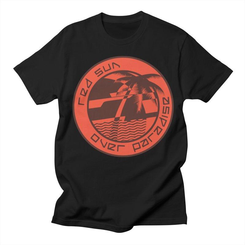 Futuristic Sunset Women's Regular Unisex T-Shirt by redsun.tf merchandise shop
