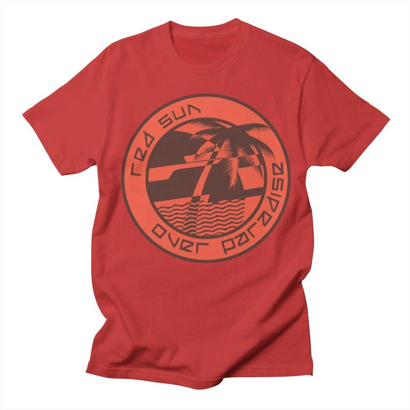 Futuristic Sunset Men's Regular T-Shirt by redsun.tf merchandise shop