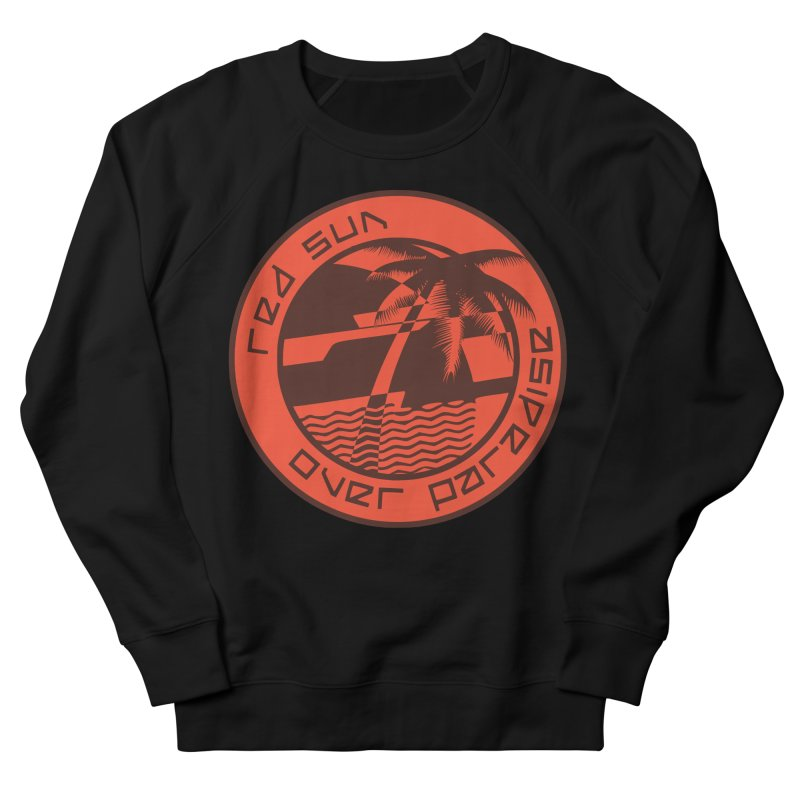 Futuristic Sunset Men's French Terry Sweatshirt by redsun.tf merchandise shop