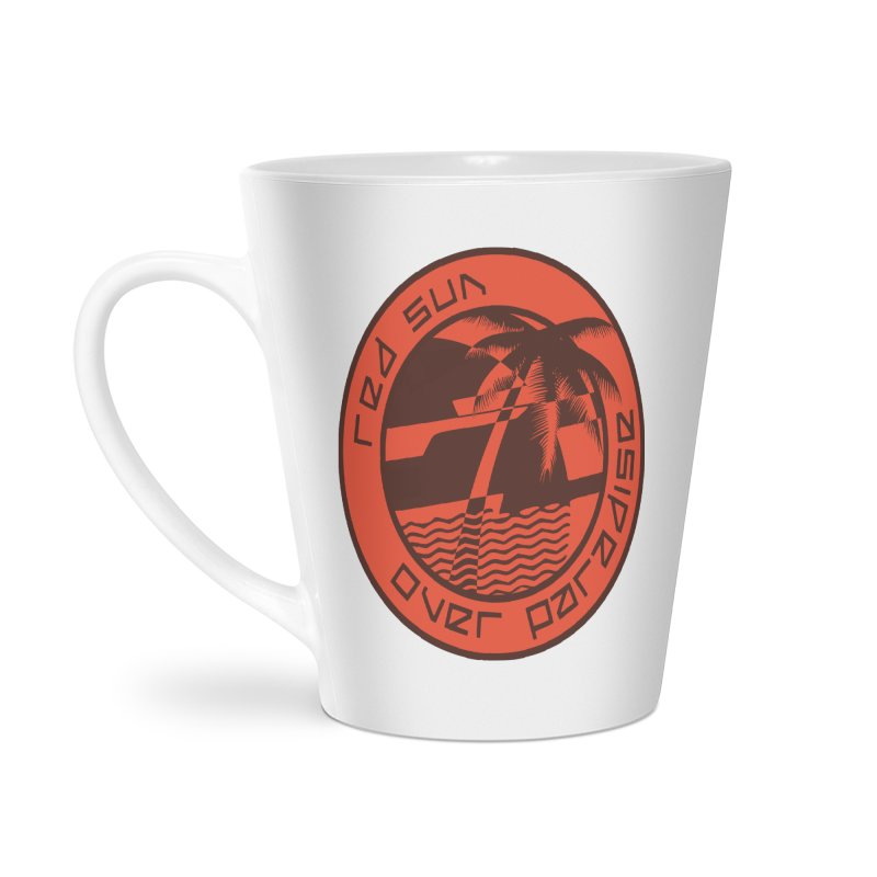 Futuristic Sunset Accessories Latte Mug by redsun.tf merchandise shop
