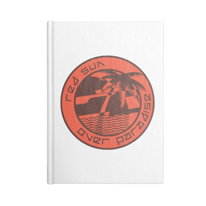 Futuristic Sunset Accessories Notebook by redsun.tf merchandise shop
