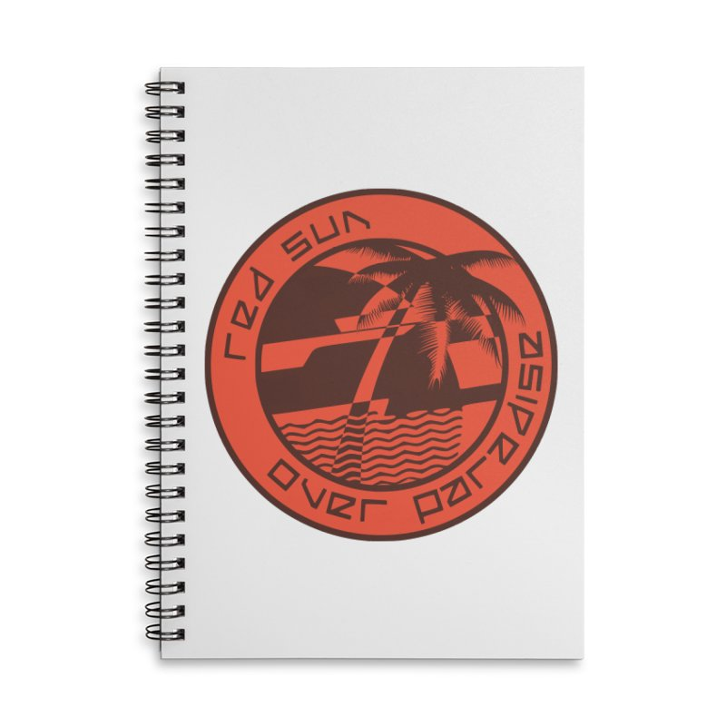 Futuristic Sunset Accessories Lined Spiral Notebook by redsun.tf merchandise shop