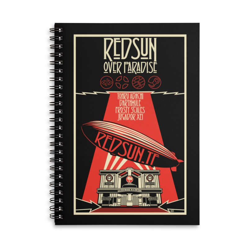 Administrative Mothership Accessories Lined Spiral Notebook by redsun.tf merchandise shop
