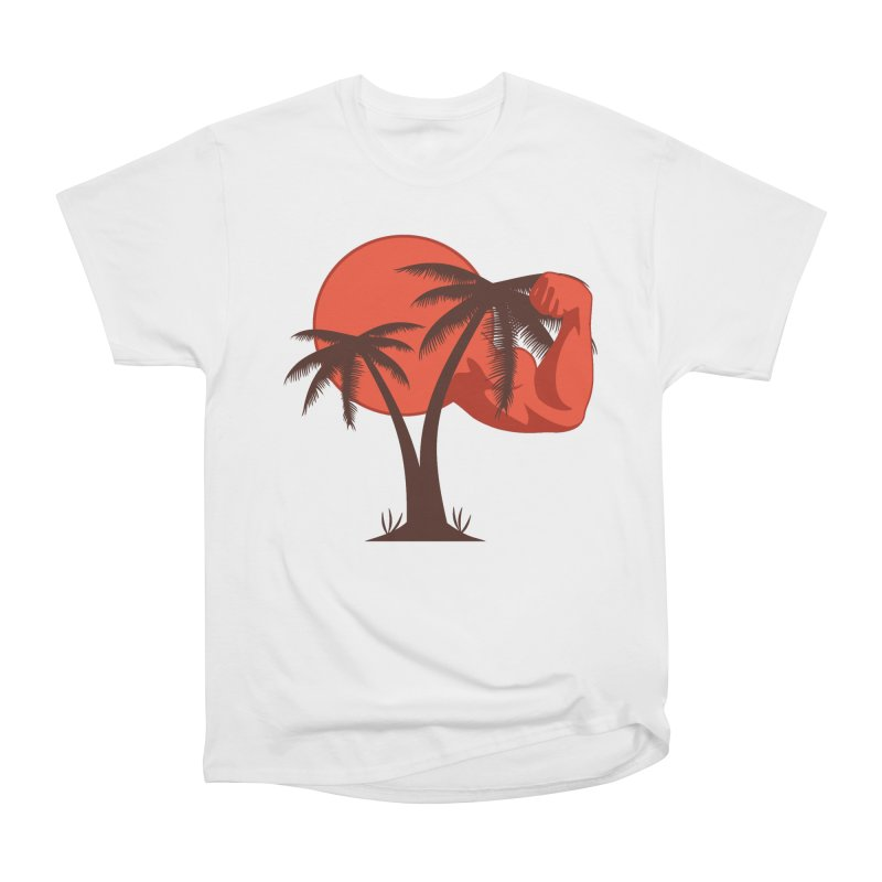 Red Sun Logo Men's Heavyweight T-Shirt by redsun.tf merchandise shop