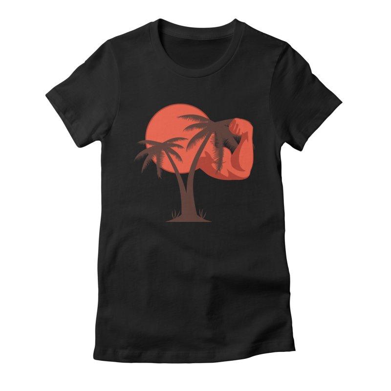 Red Sun Logo Women's Fitted T-Shirt by redsun.tf merchandise shop