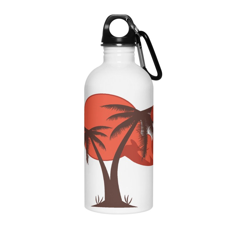 Red Sun Logo Accessories Water Bottle by redsun.tf merchandise shop