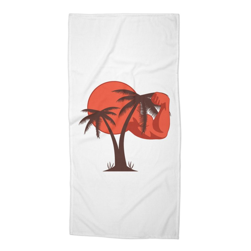 Red Sun Logo Accessories Beach Towel by redsun.tf merchandise shop
