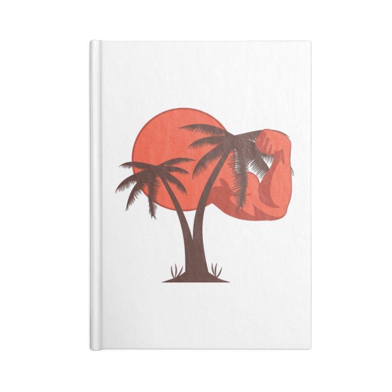 Red Sun Logo Accessories Lined Journal Notebook by redsun.tf merchandise shop