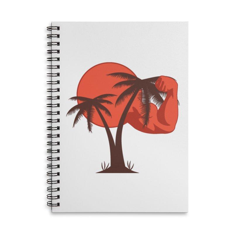 Red Sun Logo Accessories Lined Spiral Notebook by redsun.tf merchandise shop