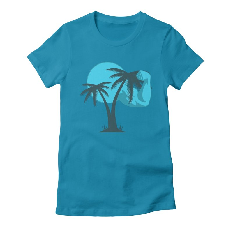 Blue Moon Logo Women's Fitted T-Shirt by redsun.tf merchandise shop
