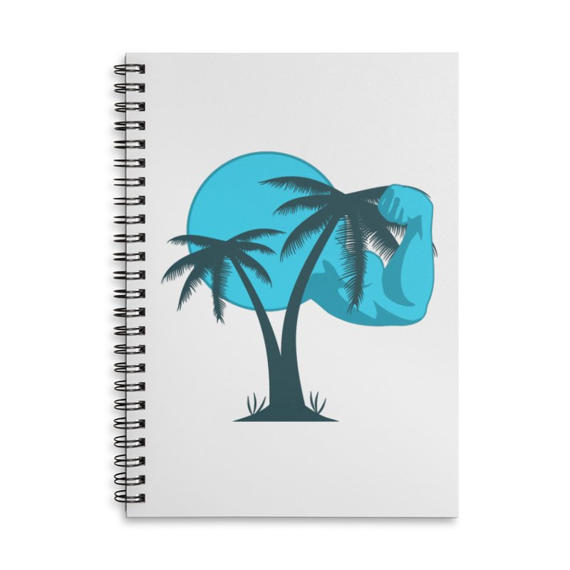 Blue Moon Logo Accessories Lined Spiral Notebook by redsun.tf merchandise shop