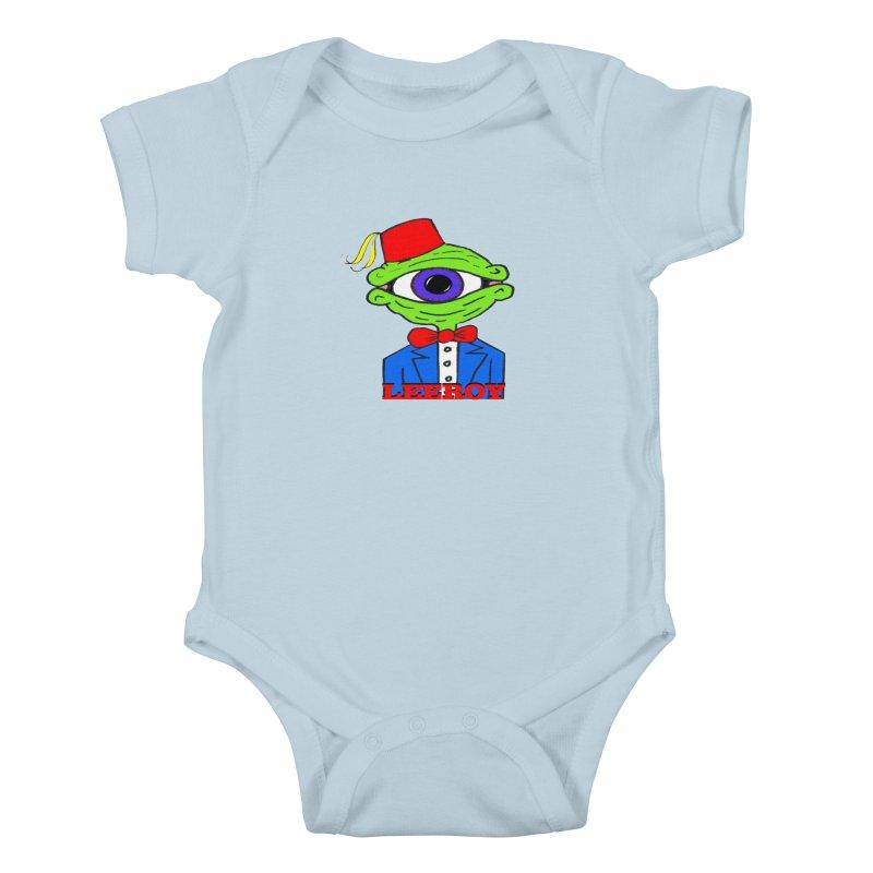 Leeroy Montenegro Kids Baby Bodysuit by Reef Musallam's Artist Shop