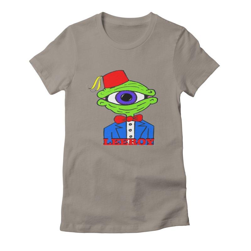 Leeroy Montenegro Women's Fitted T-Shirt by Reef Musallam's Artist Shop