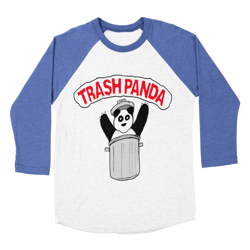 Trash Panda Women's Baseball Triblend T-Shirt by Reef Musallam's Artist Shop
